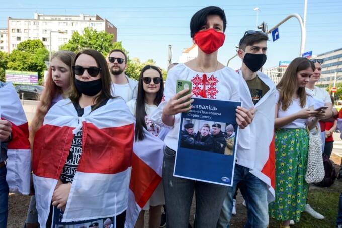 Акція солідарності з Романом Протасевичем у Польщі